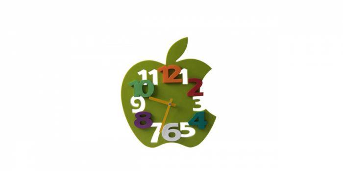 საათი კედლის პლასტიკური 3D, Ø30x4.5სმ., მწვანე