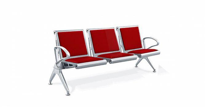მოსაცდელი სკამი ტყავით, 3 ადგილიანი