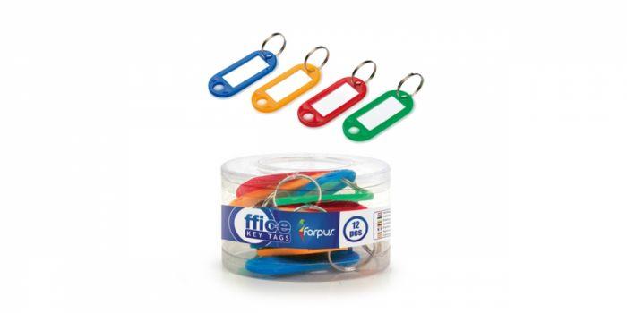 გასაღების ბრელოკი, პლასტიკური, 12 ცალიანი, ფერადი, Forpus