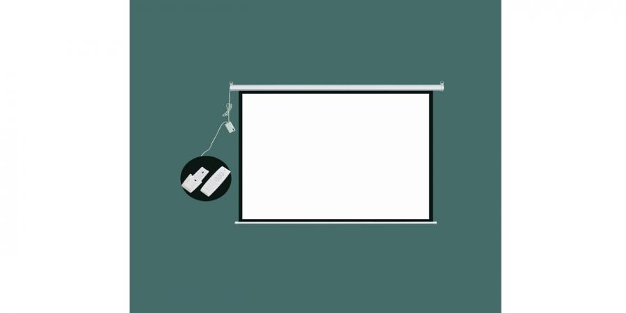 ოვერჰედის ეკრანი კედლის, 150X200სმ., ელექტრონული, საკიდით, Comix