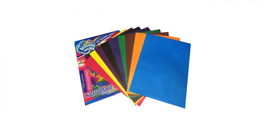 ფერადი ქაღალდი A4, ოფსეტური, 10 ცალიანი, Fresh